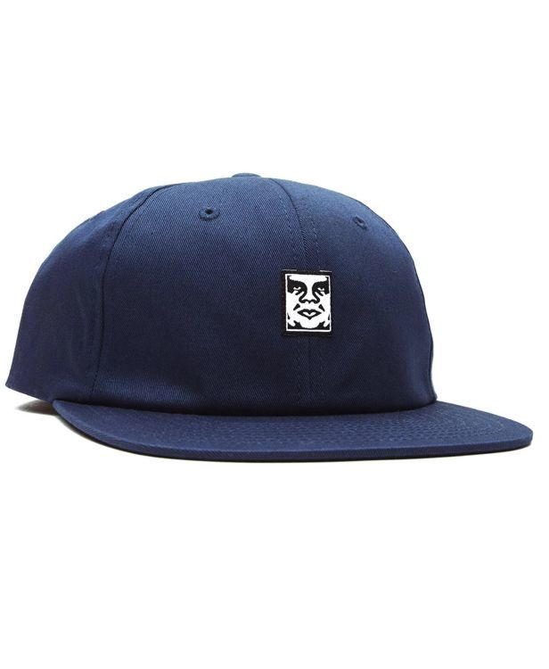 Obey Icon Face 6 Panel Navy Cap-*