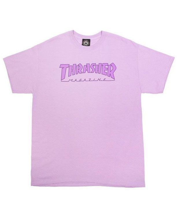 Thrasher Outlined Orchid T-shirt